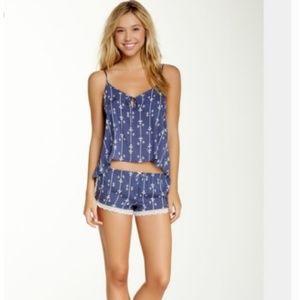 NEW WILDFOX Size S Lace Fleur De Lis Sleep SHORTS